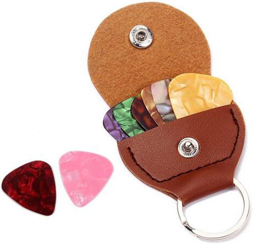 Key Chain Guitar Pick Holder Plektrum Tasche Geschenk für Liebhaber der