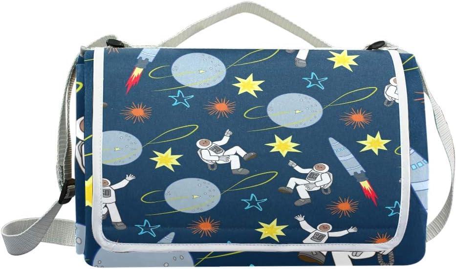 XINGAKA Coperta da Picnic Tappetino Campeggio,Oxygenbubbleswaterbluescientific,Giardino Spiaggia Impermeabile Anti Sabbia 9
