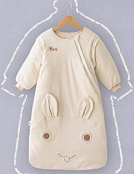 TAAMBAB Lana Bebé Dormir Vestido Saco Recién Nacido Algodón Traje de Dormir - Invierno Respirable Niño Sueño Pantalón Redondo Cuello Espesar Primavera: Amazon.es: Ropa y accesorios