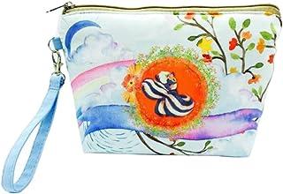 Daliuing 1 Pcs Femmes Cadeau Sac De Cosmétique Coupe Carré Sac De Voyage Sac De Stockage En Toile Coin Bourse Sac De Maquillage Portable Trousse De Toilette-17.5x23x18CM