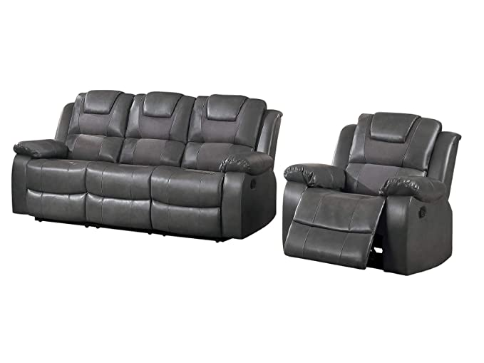 Tarrano - Sofá reclinable y sillón reclinable (2 Piezas ...
