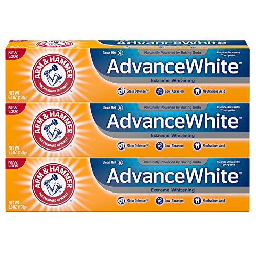 Arm & Hammer Advance White Extreme Whitening with Stain Defense, Fresh Mint, 6 oz, 3 Count (Packaging May Vary) Arm Hammer Enamel Care Toothpaste