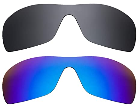 f557a1f8d1 BATWOLF Replacement Lenses Polarized Black   Blue by SEEK fits OAKLEY  Sunglasses