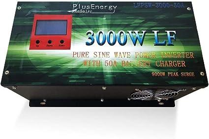 Inversor Solar 3000w 12v Onda Pura con Cargador 50A convertidor de 12v a 220v