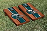 NFL Philadelphia Eagles Rosewood Stained Stripe Version Football Cornhole Game Set, 24'' x 48'', Multicolor