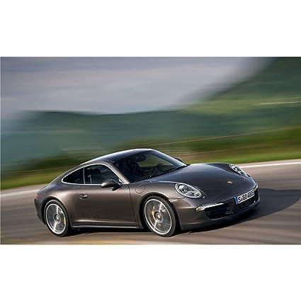 Porsche 911 Póster con diseño de On Silk<56 x 35 cm or 96 x