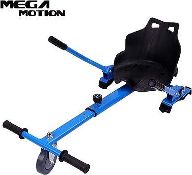 Mega Motion Asiento Hoverkart para Patinete Eléctrico Hoverboard con Silla 6.5,8.5,10 Pulgadas Longitud Adjustable (Blue): Amazon.es: Deportes y aire libre