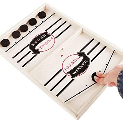 ARELUX Fast Sling Puck Game,Slingshot Games Toy Board,Rapid-Shot Paced Winner Board Games Toys for Kids Adults: Toys & Games