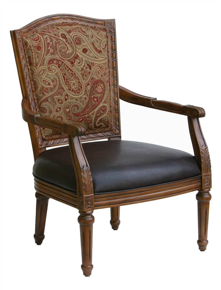 Amazon.com: Lovington tapizado Arm Chair, Madera, Cereza ...