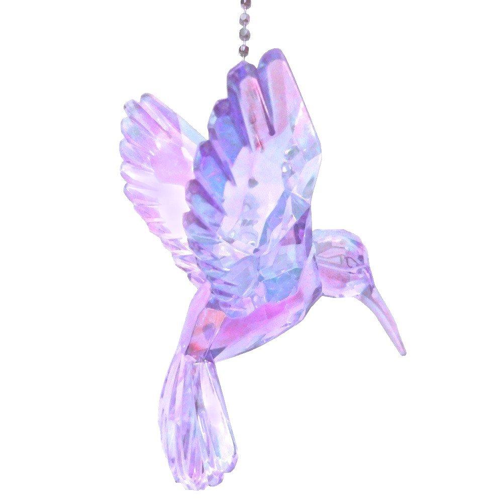 Acrylic Hummingbird Ceiling Fan Pull Light Chain Ornament (Purple)