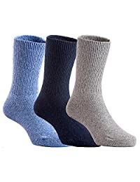 Lovely Annie Children 3 Pairs Pack Wool Socks Solid Color Size 1Y-3Y(Assorted Boy Color)