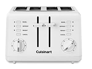 Cuisinart CPT-142FR Compact 4-Slice Toaster, White (Renewed)