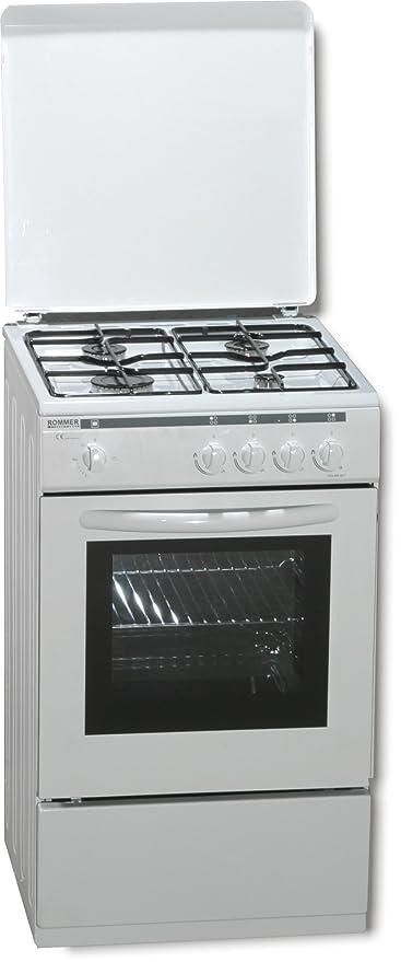 ROMMER VCH 450 - Cocina (Independiente, Color blanco, Giratorio ...