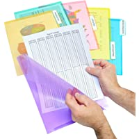 Ultimate Office PocketFile Clear Poly Document Folder Project Pockets, 3rd-Cut, Letter Size, in 6 Assorted Colors…
