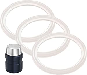 3-Pack of Thermos (TM) Food Jar 16 and 24 Ounce -Compatible Gaskets / O-Rings / Seals by Impresa Products - BPA-/Phthalate-/Latex-Free - Replacement for 16 and 24 Ounce Containers