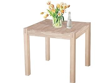 Loft24 ALLURE Esstisch Esszimmertisch Küchentisch Küche Tisch Holz 80x80cm  Eiche Massiv