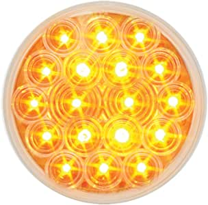 """Grand General 76451 Amber 4"""" Round Fleet 18-LED Park/Turn/Clearance Sealed Light with Clear Lens"""