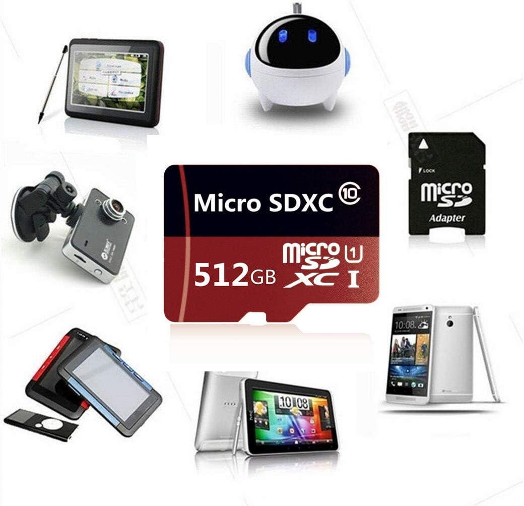 Speicher-TF-Karte mit Adapter f/ür Handy Klasse 10 256 GB//512 GB//1024 GB 512 GB Tablet und PC Genericn Micro-SD-SDXC-Karte