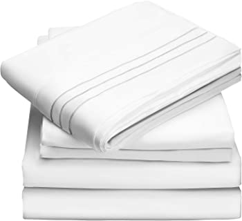 4-Piece Veken Queen Hypoallergenic Double-Brushed Microfiber Sheet Set