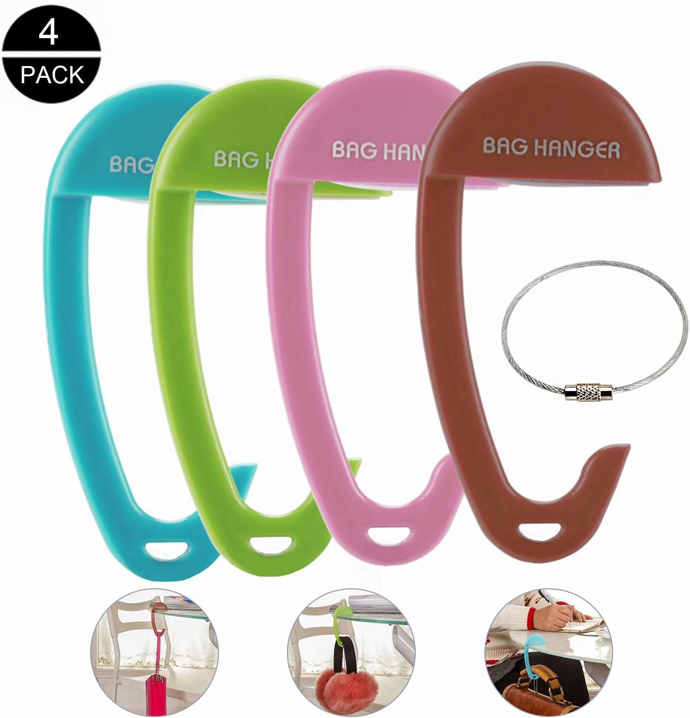 Colorful Hand Painted Canvas Shoes Pattern Table Hook Folding Bag Desk Hanger Foldable Holder