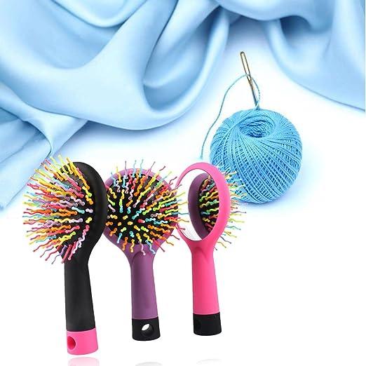 Youkara Rainbow Brush Rizo Peine Curl Recto Peine de Masaje Cepillo de Pelo Antiestático: Amazon.es: Hogar