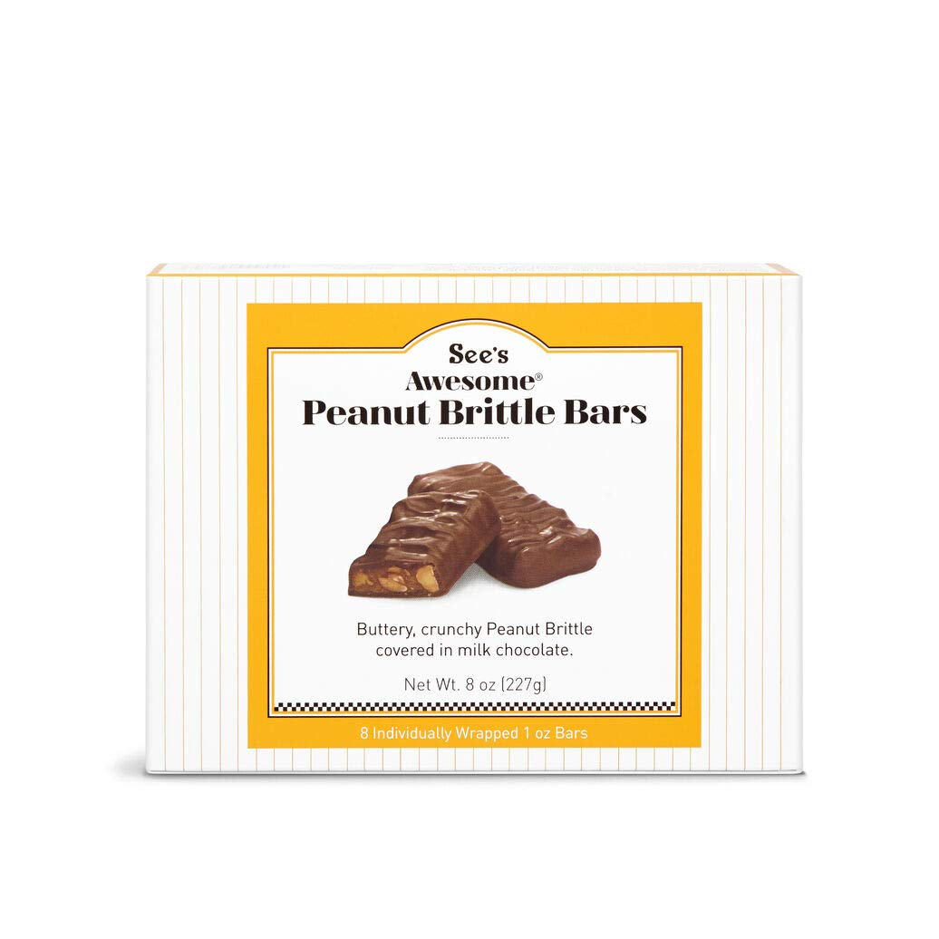 See's Candies Awesome Peanut Brittle 8 Bars (Pack of 1) by See's Candies
