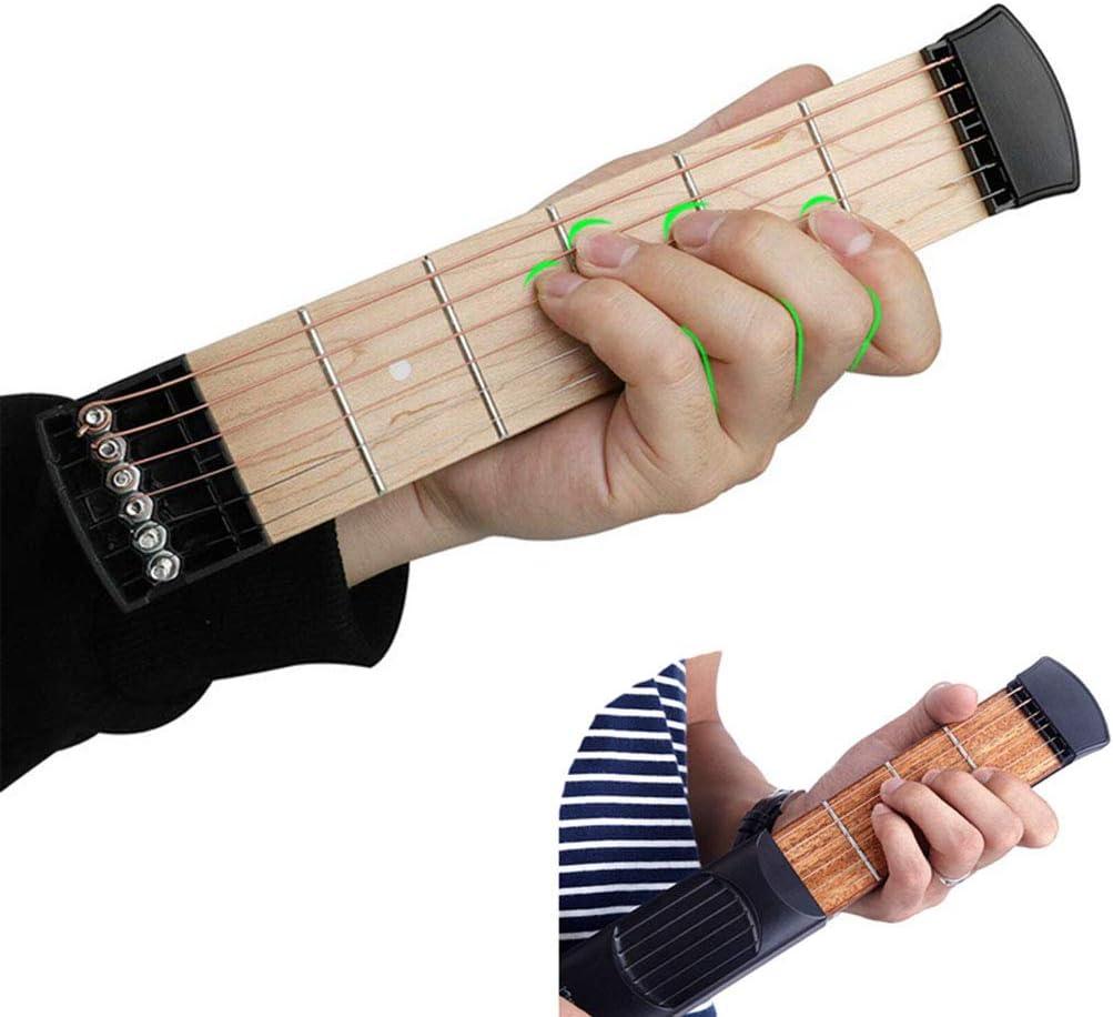 Kilcvt Guitarra de Bolsillo, 6 Cuerdas 6 trastes Herramienta de ...