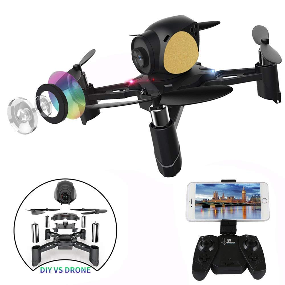 Remote Control Quadcopter, ASGO S7 DIY WiFi RC Drone with 2MP Camera and Real-time Picture Transmission