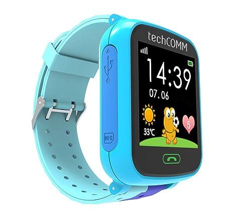 Amazon.com: techcomm G200S GSM desbloqueado niños Smartwatch ...