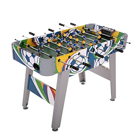 Lixada 48u0026quot; Foosball Table Competition Sized Playoff Game Football  Soccer Table Soccer Game Gift For