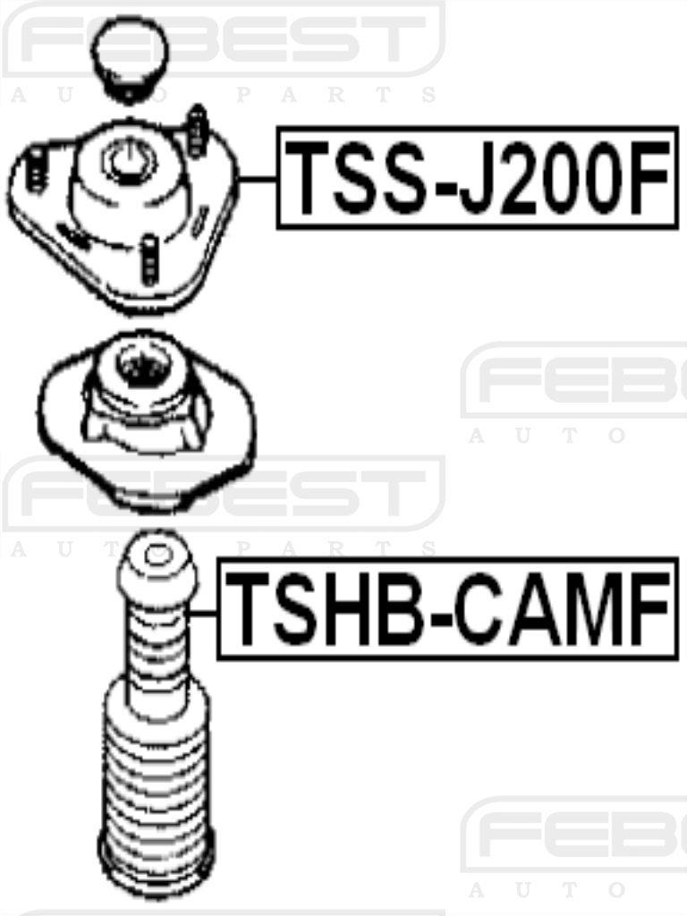 FEBEST TSS-J200F Front Shock Absorber Support