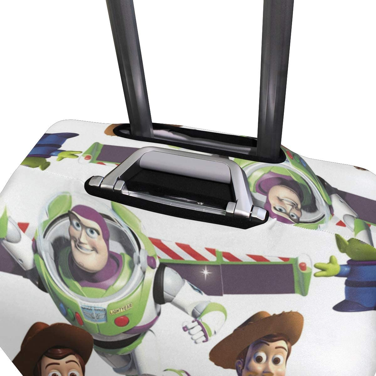 Travel Luggage Cover Toy Story Cute Astronaut Anime Theme Suitcase Protector Fits 26-28 Inch Washable Baggage Covers