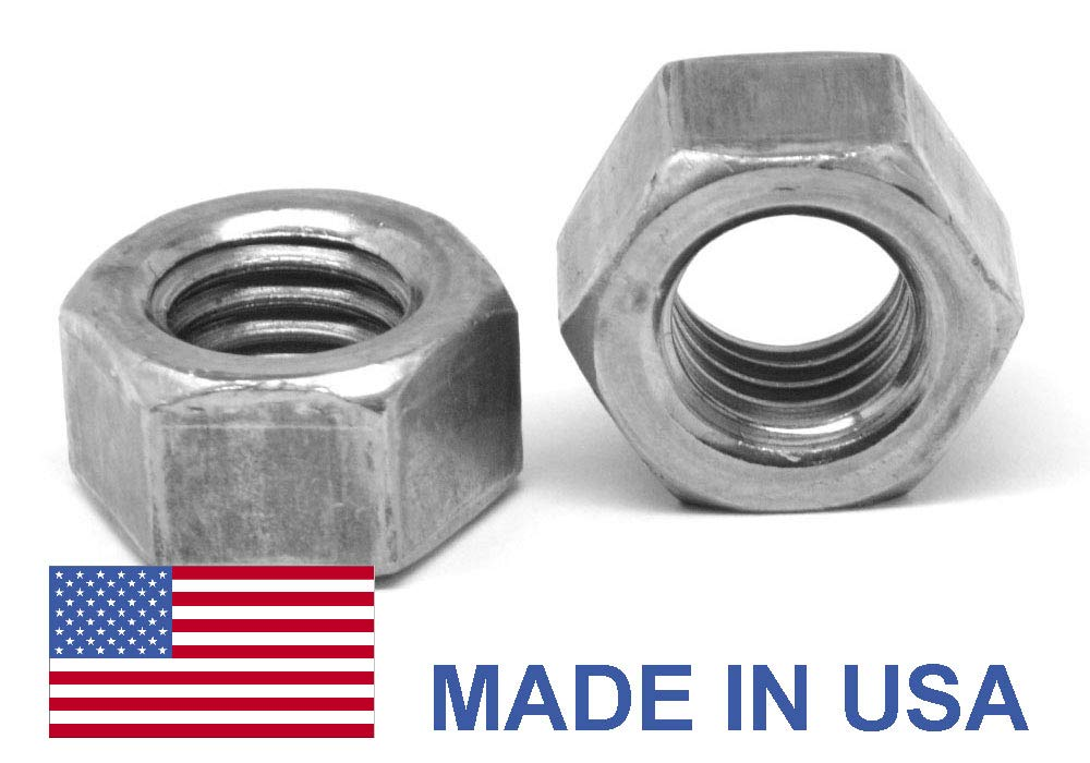 #10-32 Thread Size 1//8 Thick Off-White Pack of 25 3//8 Width Across Flats Polypropylene Hex Nut