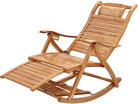 ZXT HZC Mecedora de Madera Silla reclinable de jardín Sillón reclinable Tumbona de Exterior Tumbonas Tumbonas Ajustables for Patio Porche Jardín Jardín de césped Camping: Amazon.es: Jardín