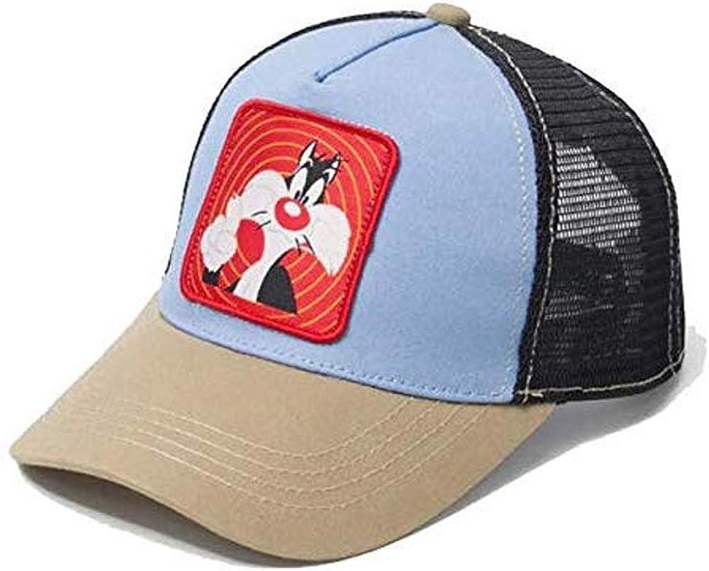 Gorra Visera Curva Trucker Looney Tunes Silvestre Azul Gris y ...