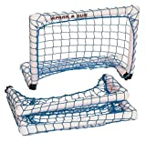 Park & Sun Sports Portable Indoor/Outdoor Micro Goal with Nylon Bungee Slip Net: Blue, 2' W x 1.5' H x 1' D