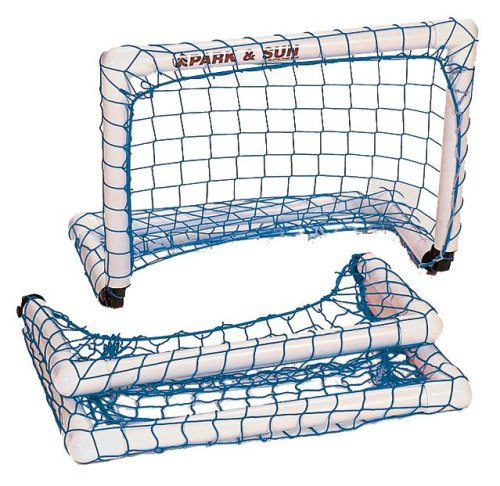 Park & Sun Sports Portable Indoor/Outdoor Micro Goal with Nylon Bungee Slip Net: Blue, 2' W x 1.5' H x 1' D by Park & Sun Sports