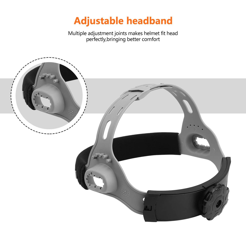 DEKOPRO Solar Powered Welding Helmet Auto Darkening Hood with Adjustable Wide Shade Range 4/9-13 for Mig Tig Arc Welder Mask by DEKOPRO (Image #5)