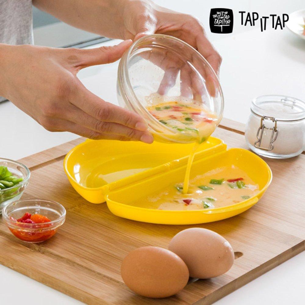 Contenitori per Cottura in Microonde Omelette di uova Como Chef alimenti Facil