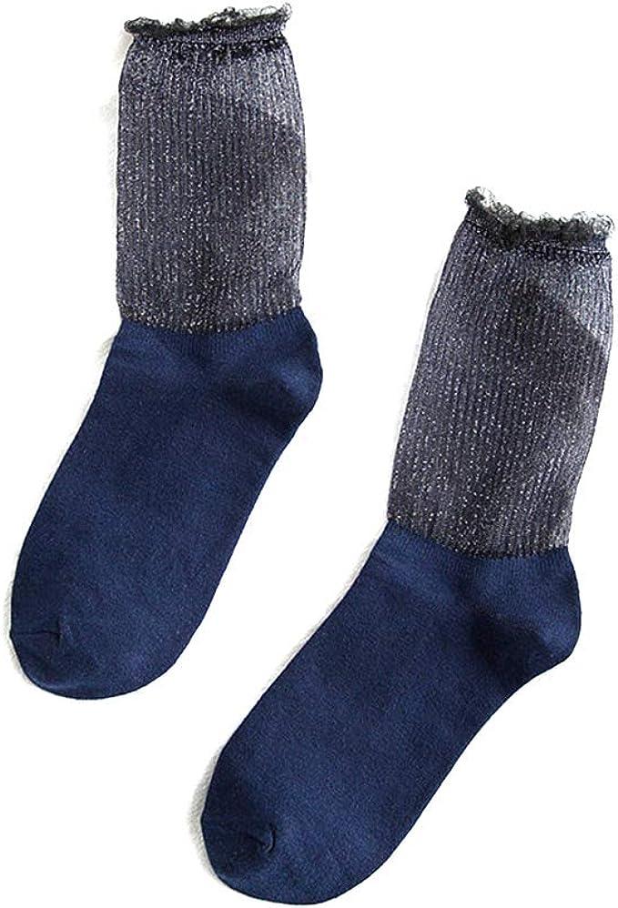 GREEN&RARE - Calcetines largos de algodón sueltos para mujer y ...