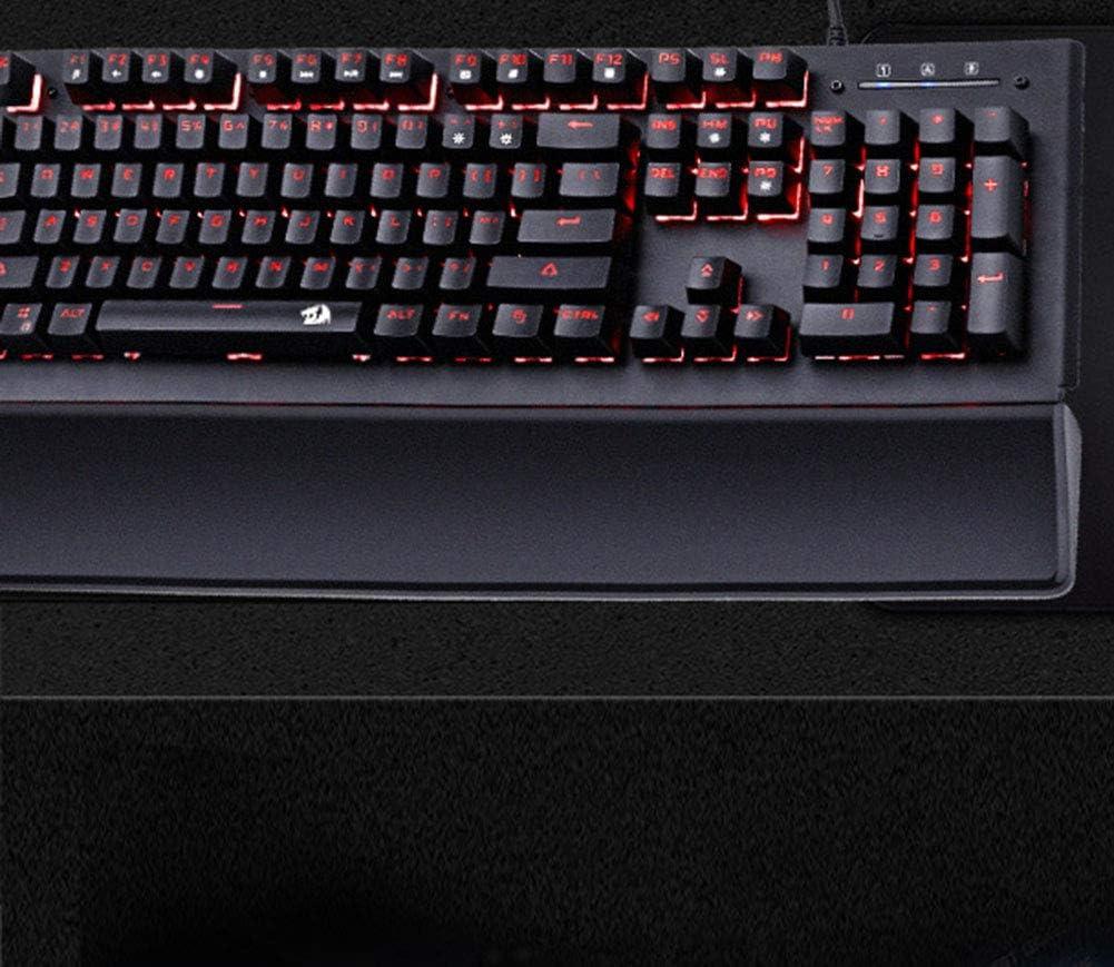 HYHZ Mechanical Keyboard LED Backlight Cable Game Keyboard Aluminum Base 104 Standard Button Mechanical Feel Keyboard Internet Cafe Game Fast Axis Keyboard