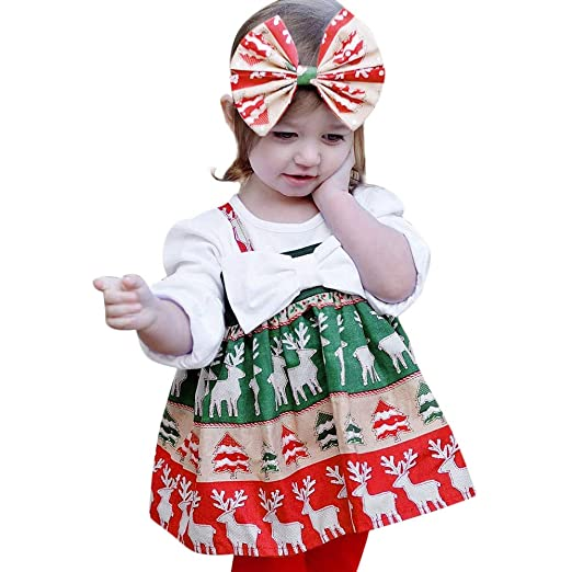 194668571 Goodtrade81 Christmas Dressees for Toddler Baby Girl Clothes Sleeveless  Kids Autumn Outfits (12-18