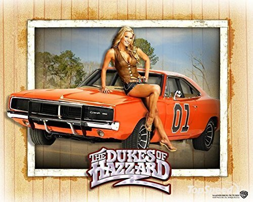 general-lee-the-dukes-of-hazzard-dodge-challenger-edible-image-photo-birthday-party-event-1-4-quarte