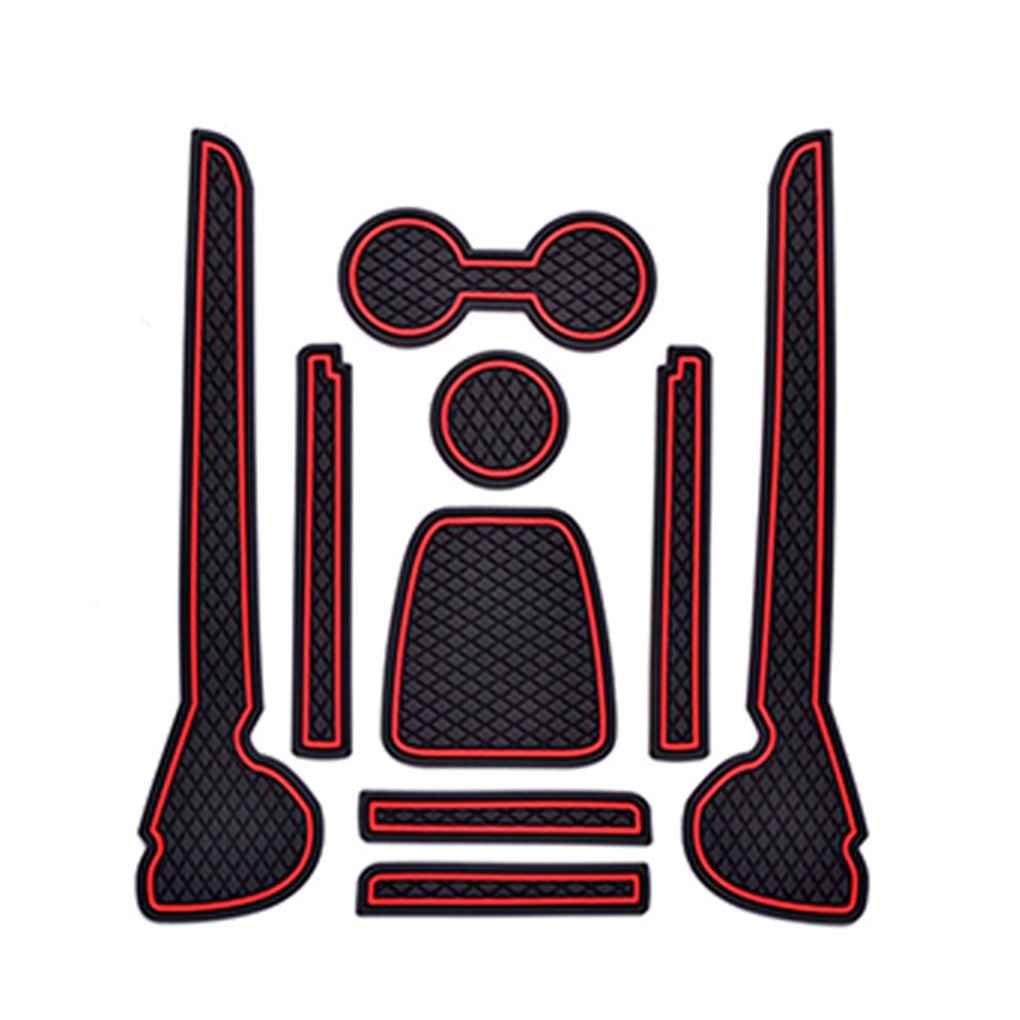 Ben-gi Mat Car Interior Porta Groove Cuscini Antiscivolo Porta Slot Pad Auto Antipolvere per VW Volkswagen Polo 11-16