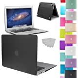 """LOVE MY CASE / NEW BLACK Rubberized See-Through Hard Case Cover for Apple MacBook Air 13-inch 13.3"""" (Models: A1369 / A1466) (Will NOT fit Pro models)"""