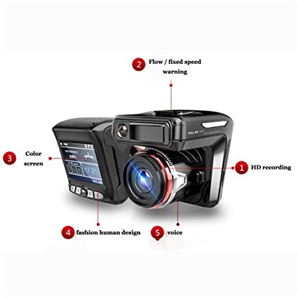 Amazon.com: RADAR DETECTOR, 2018 NEW CAR SPEED TRAP DETECTOR, 2in1 HD 1080P Car DVR Detector Camera Video Recorder Dash Cam Radar Laser Speed: Car ...