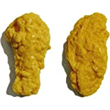 Cute Fried Chicken Wings Gift Box Soap Set(4pcs) - Funny Natural Vegan Food Nugget Soap, Fun Fake Legs Joy Soap - Novelty Handmade French Rooster Decor Prop
