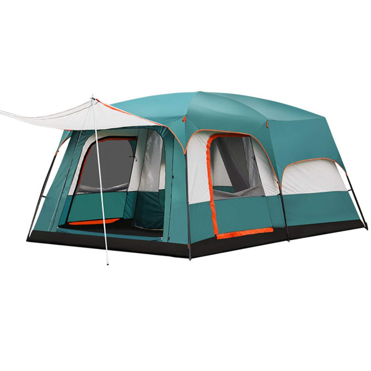 Freetrekker Großes Zelt Familienzelt 8-10 Personen Festivalzelt Luxus Zelt Steilwandzelt Hauszelt Kuppelzelt Campingzelt Gruppenzelt Wasserdicht WS 6.000 mm