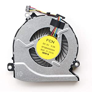 Laptop CPU Cooling Fan Compatible with HP Pavilion 15-AB 15-an 17-G Series Laptop, 15-AB100 15-AB273CA 15T-AB200 15-AN005TX 17-G101DX 17-G015DX 17-G179NB 17-G053US 17-G119DX Laptop P/N: 812109-001