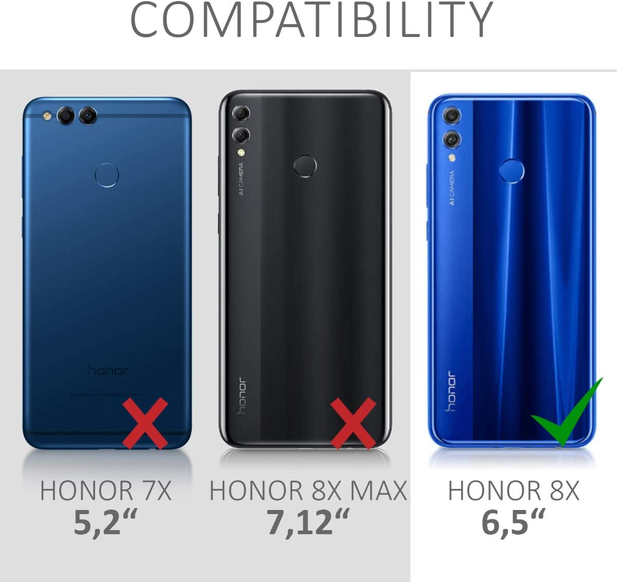 kwmobile Funda con Cuerda Compatible con Huawei Honor 8X: Amazon ...